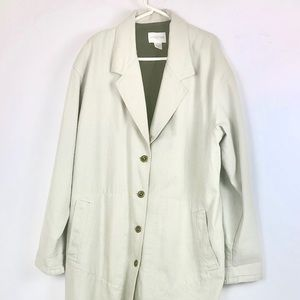 Women's Nordstrom Casual lined Overcoat khaki